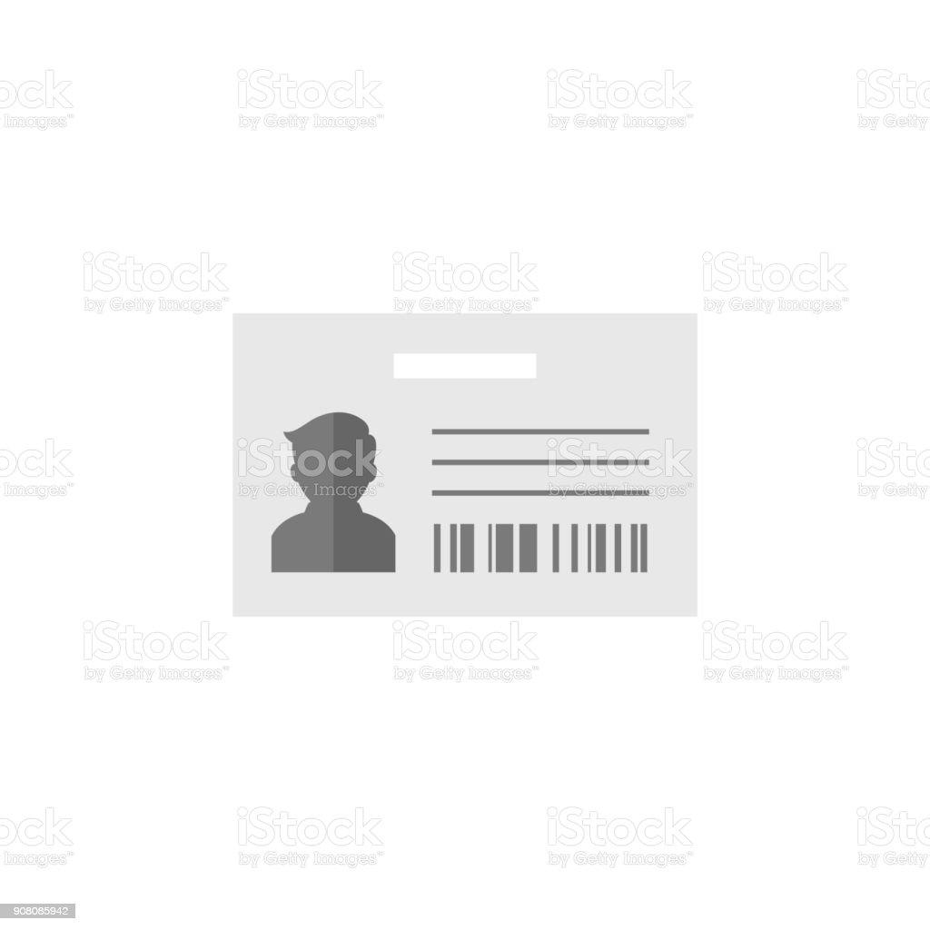 Flat icon - ID Card vector art illustration
