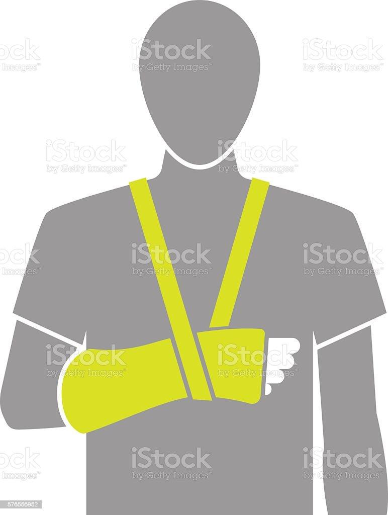 Flat icon illustration of arm bandage i vector art illustration