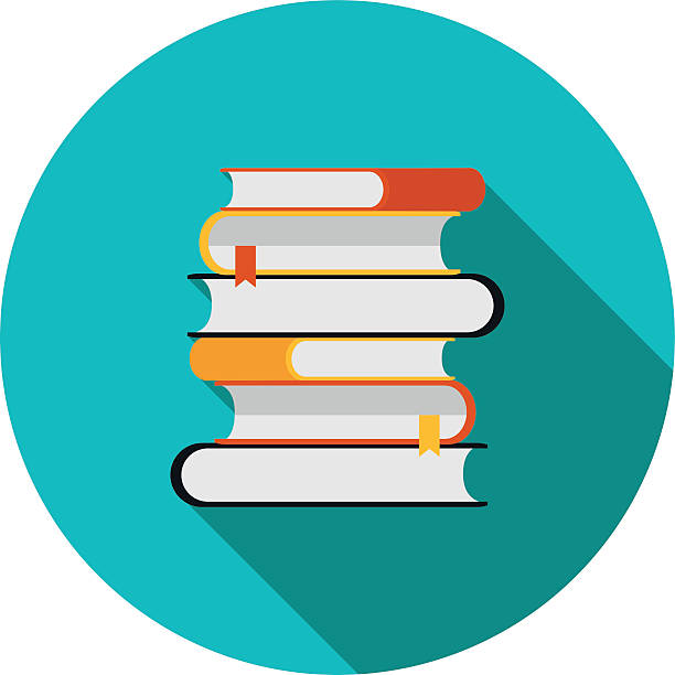 flat icon is a stack of books flat icon is a stack of books in vector format eps10 reference book stock illustrations