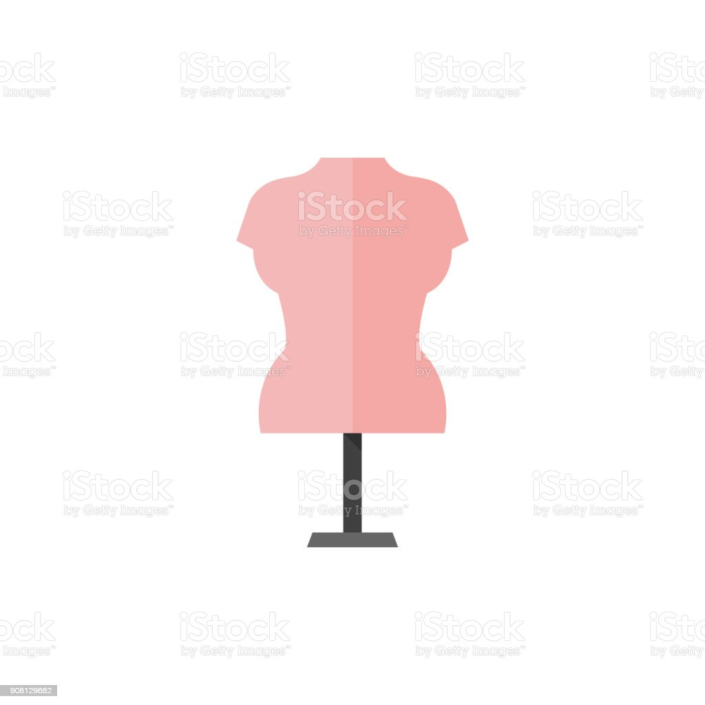 Flat icon - Mannequin vector art illustration