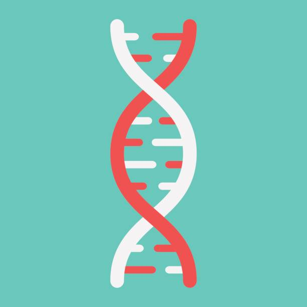 DNA Flat Icon Medicine And Healthcare Genetic Sign Vector Graphics A Colorful Solid
