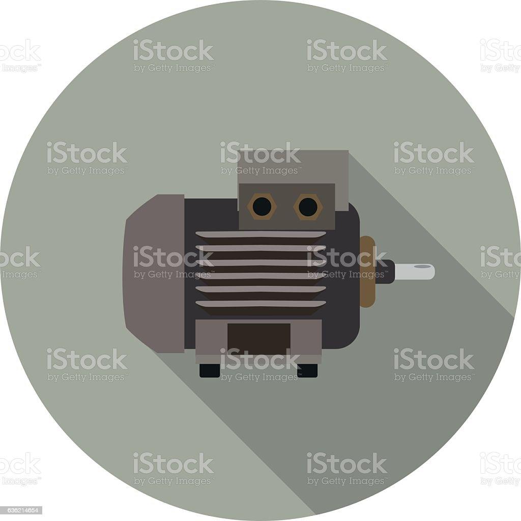 flat icon motor vector art illustration