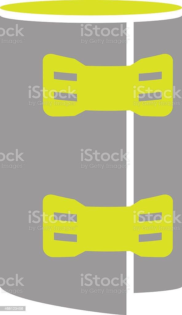 Flat Icon of Elastic Bandage Roll Isolated on White Background vector art illustration