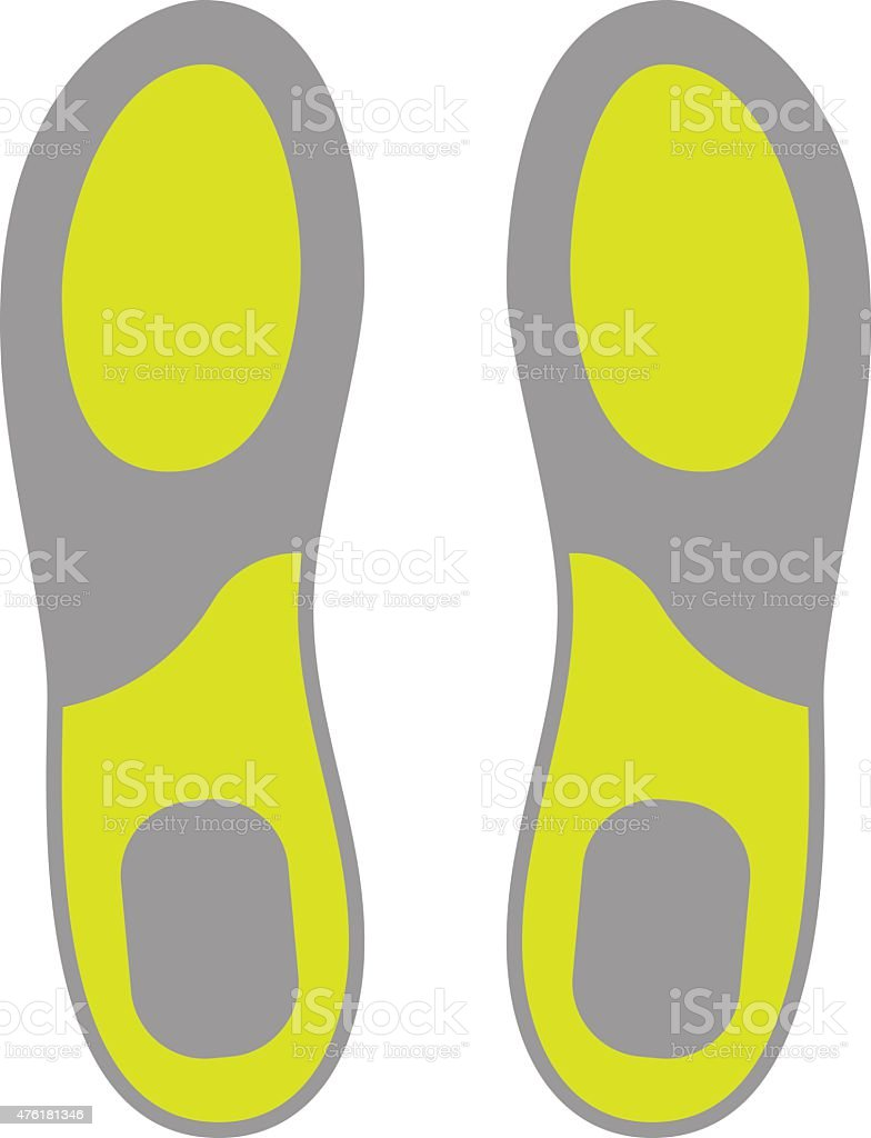 Flat Icon of Shoe Insoles Isolated on White Background vector art illustration