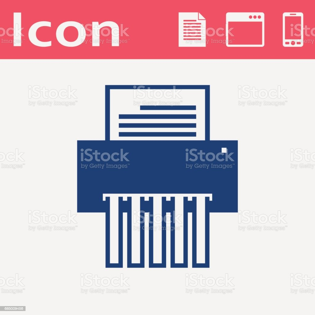 flache Symbol von shredder Lizenzfreies flache symbol von shredder stock vektor art und mehr bilder von abbrechen