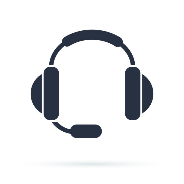 bildbanksillustrationer, clip art samt tecknat material och ikoner med flat ikonen stöd. logga callcenter. kontakta tekniska symbol. samtal och vi kommer att svara dig. - headset