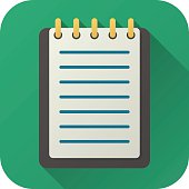 Flat icon of toy notebook