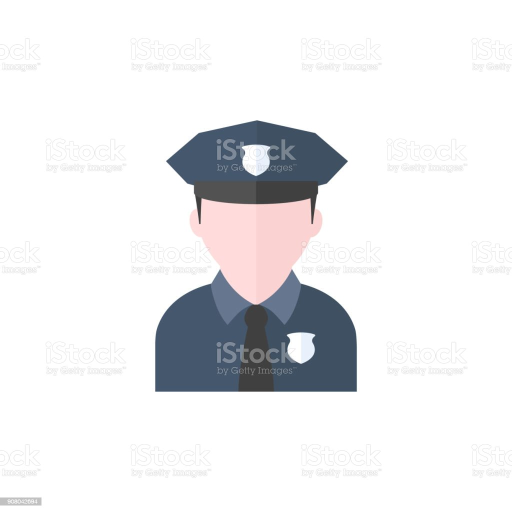 87d2cea2a5b Flat icon - Police avatar royalty-free flat icon police avatar stock vector  art  amp