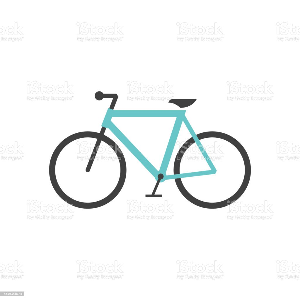 Flat icon - Road bicycle - Royalty-free Bicicleta arte vetorial