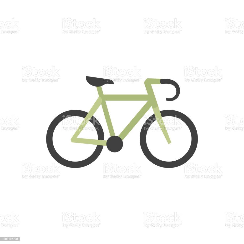Flachsymbol Rennrad Stock Vektor Art und mehr Bilder von Biegung ...