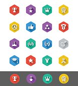 Flat Icon Series: Achievement and Awards Icons
