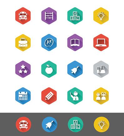 Flat Icon Series: Education Icons