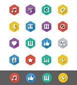 Flat Icon Series: Music Icons