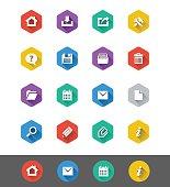 Flat Icon Series: Toolbar Icons