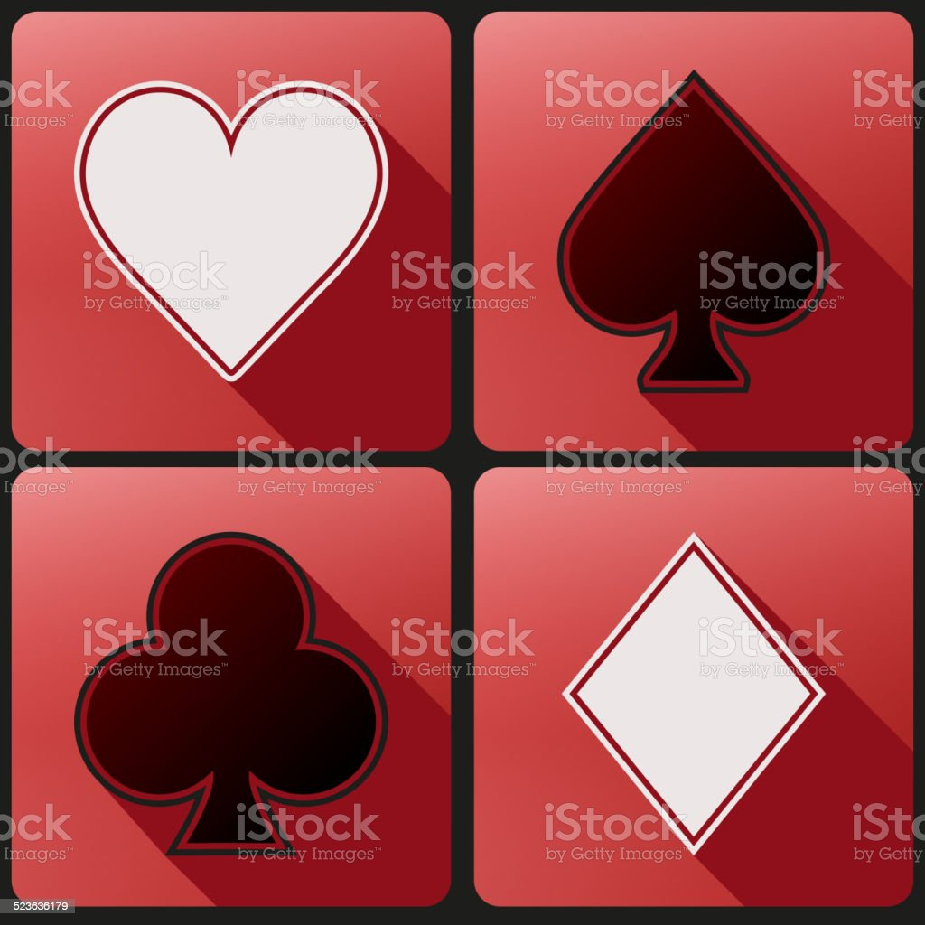 Flat Icon Set Playing Cards Suit Stock Illustration Download Image Now Istock