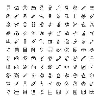 Flat icon set clipart
