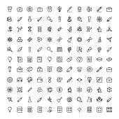 Laboratory icon set. Collection of high quality black outline logo for web site design and mobile apps. Vector illustration on a white background.