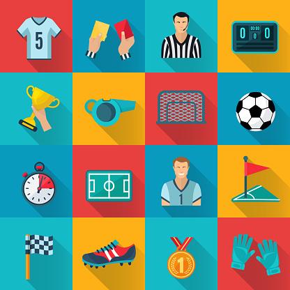 flat icon soccer