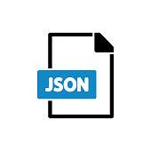istock JSON flat icon stock illustration 1318301761
