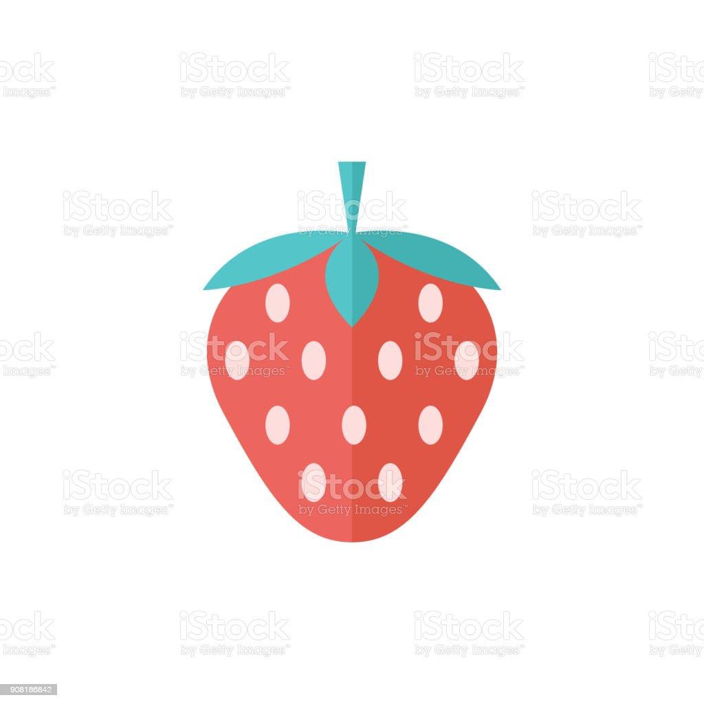Flat icon - Strawberry chocolate vector art illustration