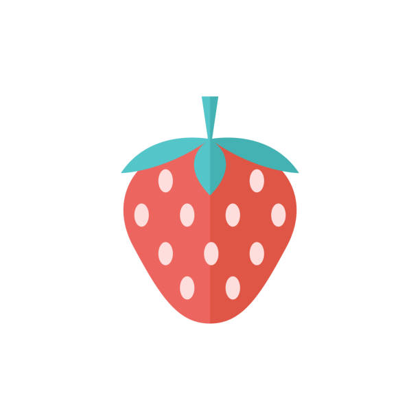 illustrazioni stock, clip art, cartoni animati e icone di tendenza di flat icon - strawberry chocolate - fragole