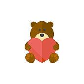 Flat icon - Teddy love