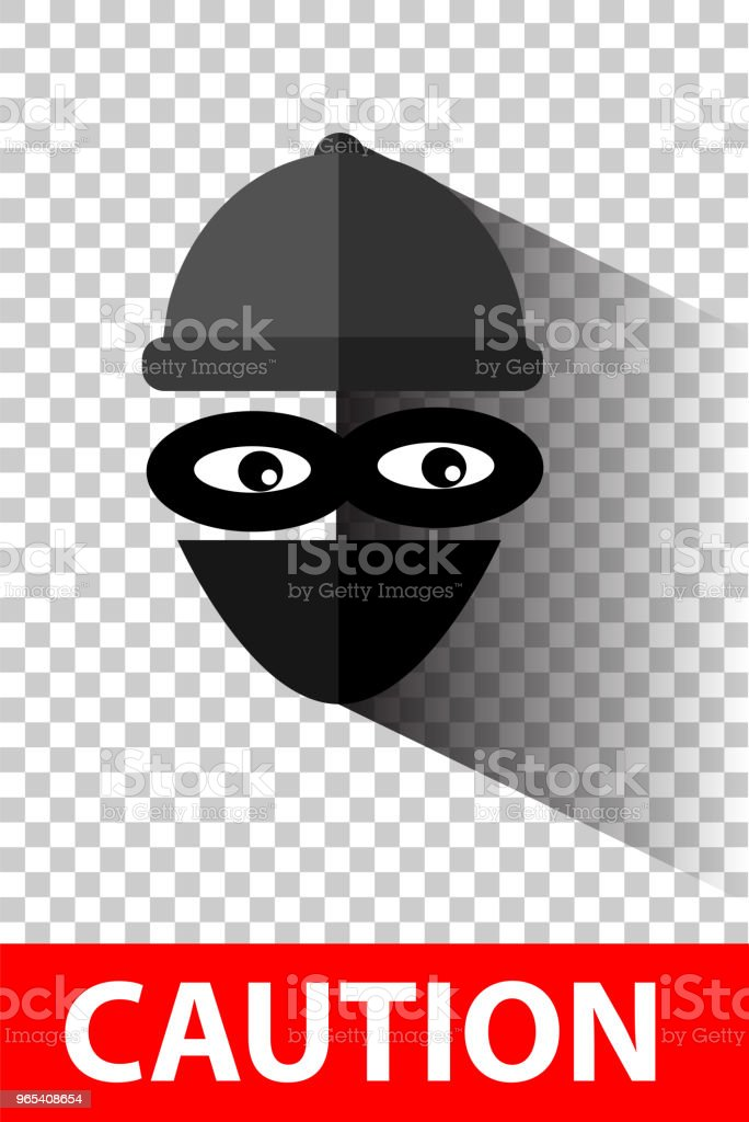 Flat Icon, Thief at gray at transparent effect background flat icon thief at gray at transparent effect background - stockowe grafiki wektorowe i więcej obrazów bandyta royalty-free