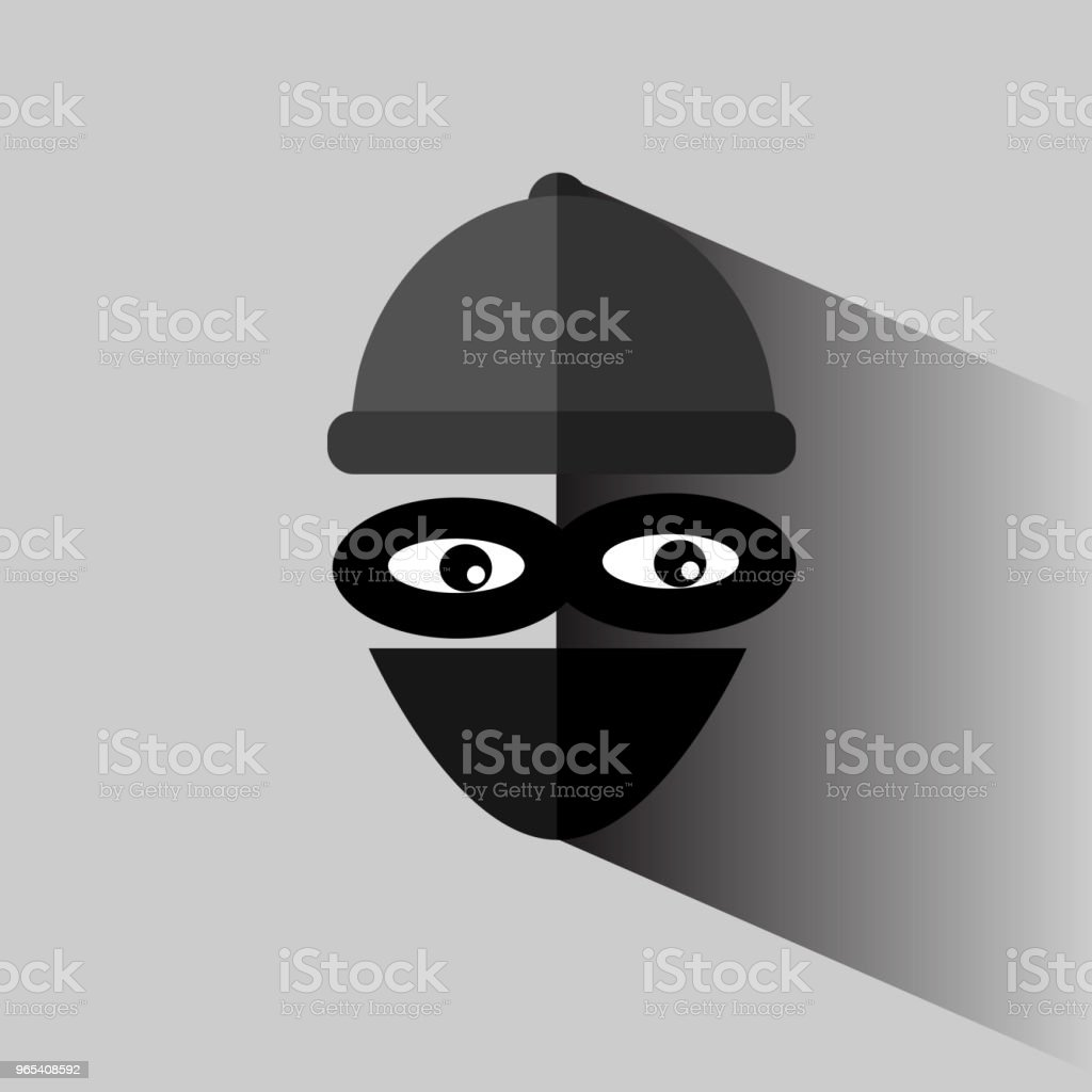 Flat Icon, Thief at gray royalty-free flat icon thief at gray stock vector art & more images of bandit