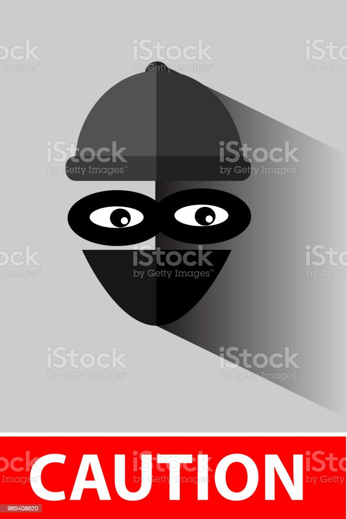 Flat Icon, Thief at gray royalty-free flat icon thief at gray stock illustration - download image now