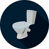 flat icon toilet 3d in vector format eps10