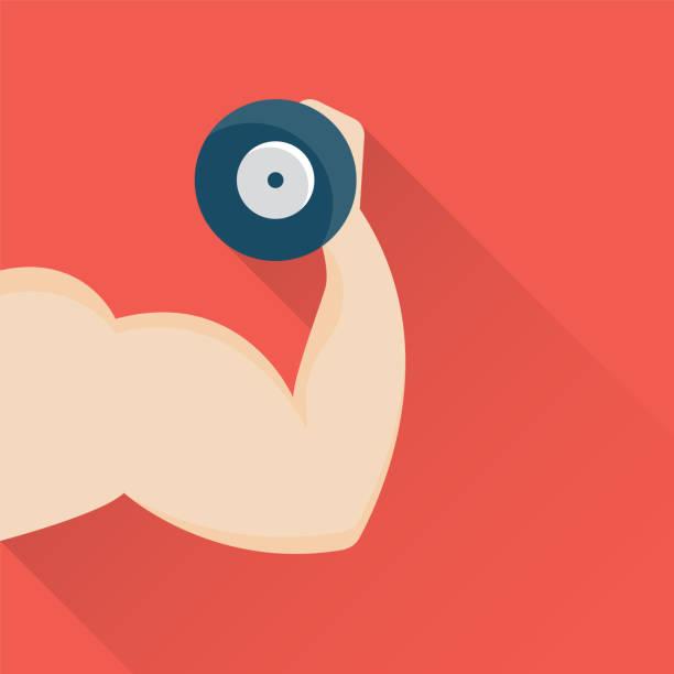 Fitness-Studio-flach-Symbol – Vektorgrafik