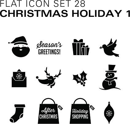 Flat icons 28 Christmas Holiday 1 Black