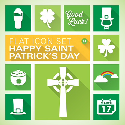 Flat icons 41 St. Patrick's Day