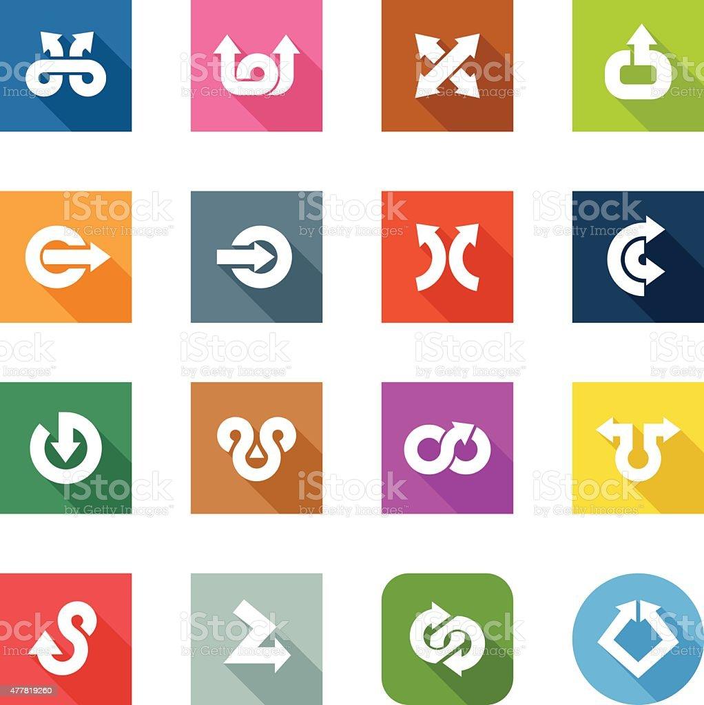 Flat Icons - Arrows vector art illustration