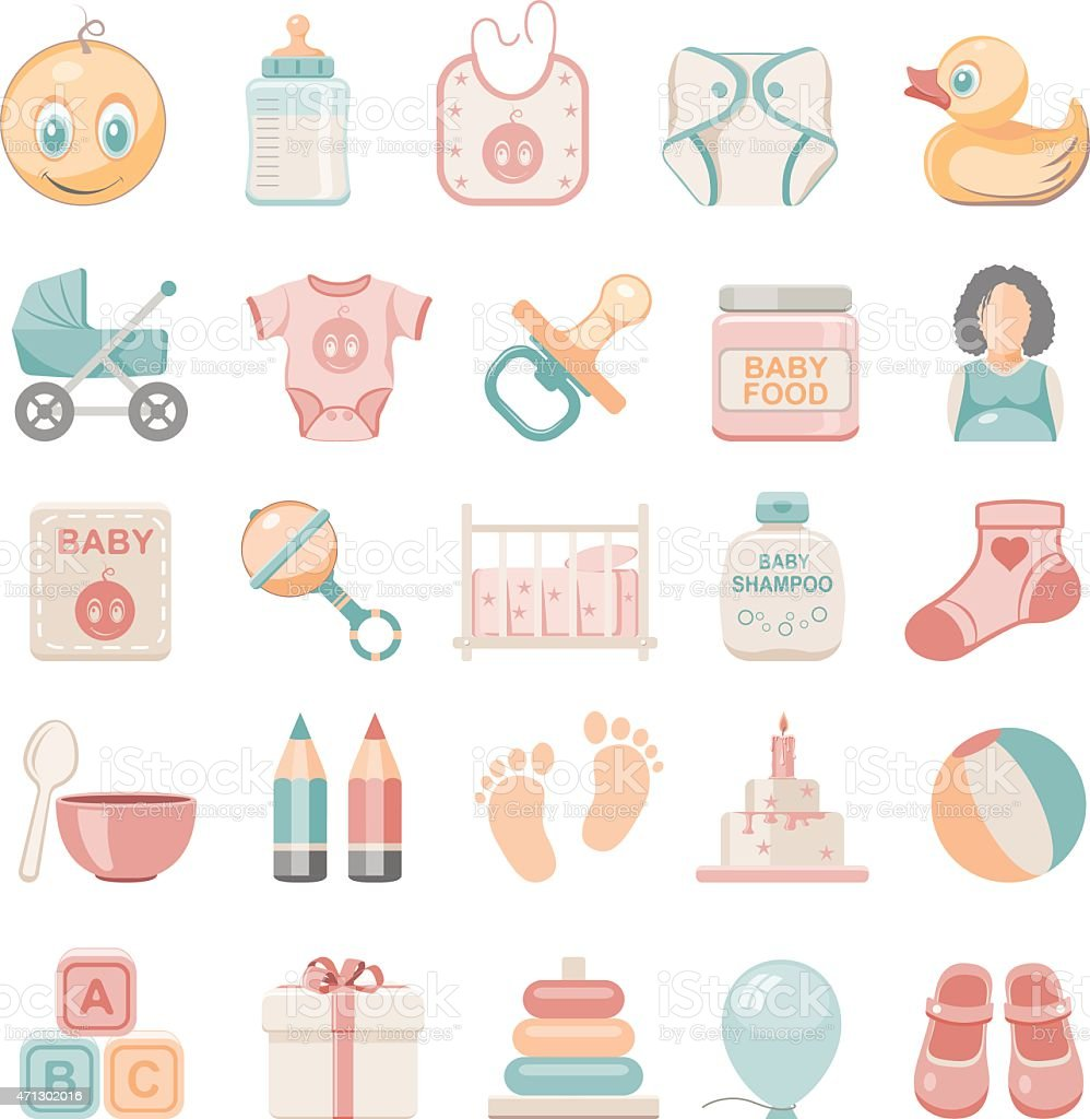 Flat Icons - Baby vector art illustration