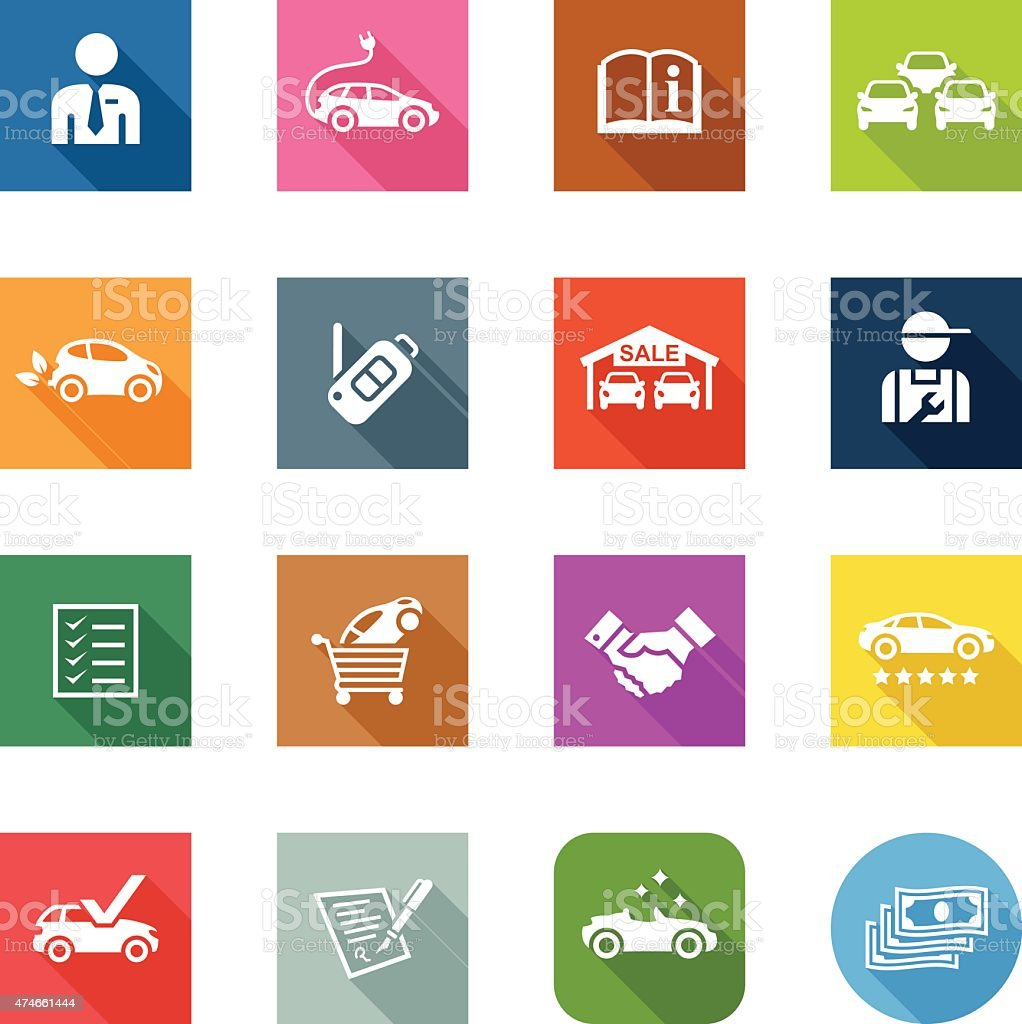Flat Icons - Car Dealership