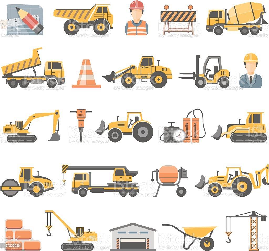 Flat Icons - Construction vector art illustration