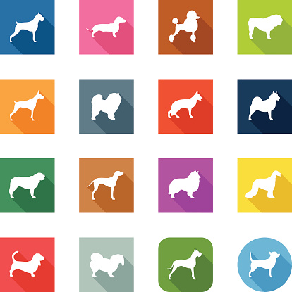 Flat Icons - Dogs