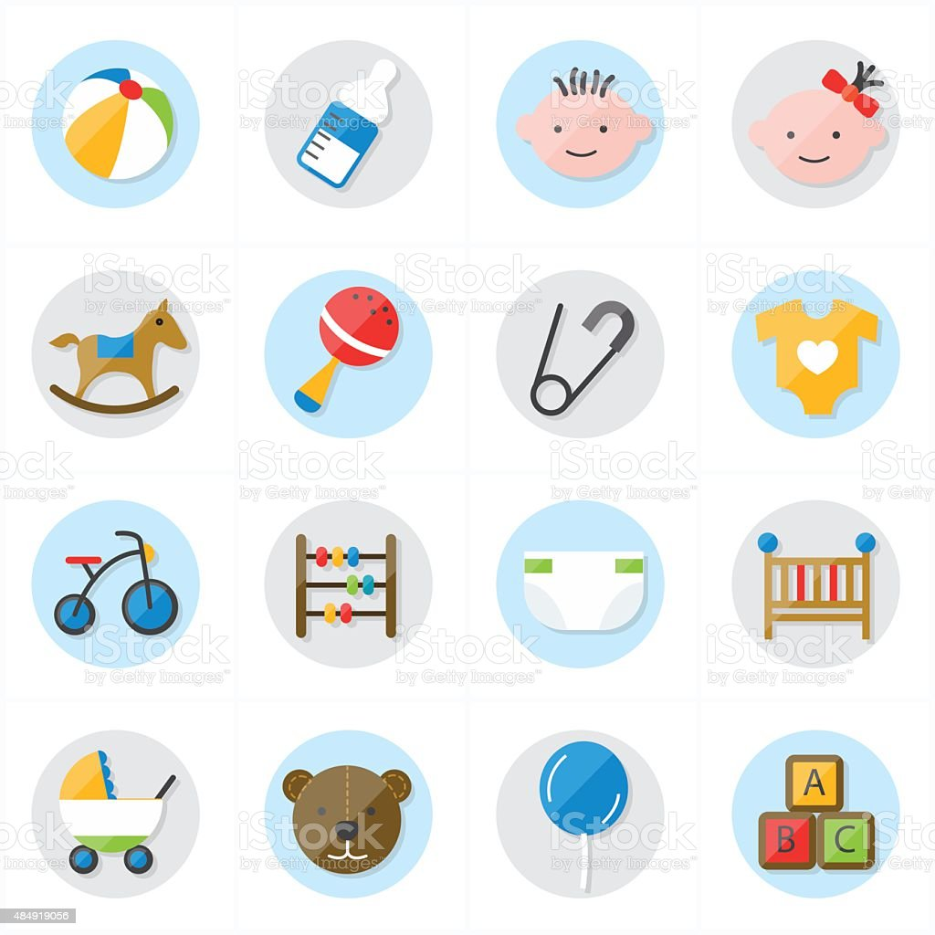 flat-icons-for-baby-icons-and-toys-icons-vector-illustration-vector-id484919056 Cost Of A Baby Shower