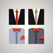 Flat icons for formal wear