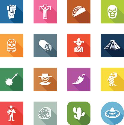 Flat Icons - Mexico