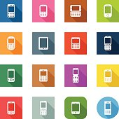 Flat Icons - Mobile Devices