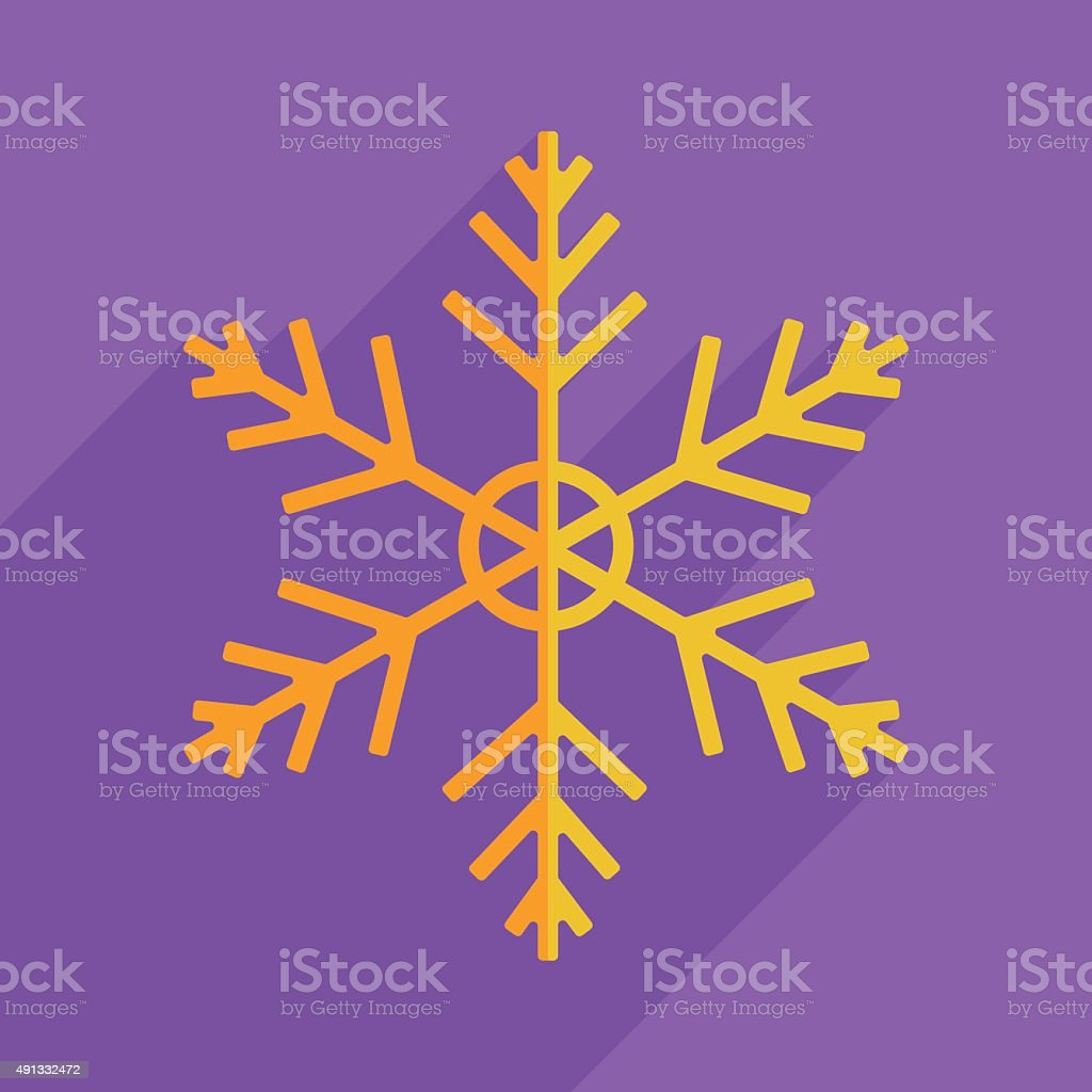 Flat icons modern design with shadow of snowflake vector art illustration