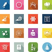 3 icon shapes included on separate layers: square, rounded square and round!