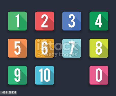 istock flat icons/ numbers 468428939