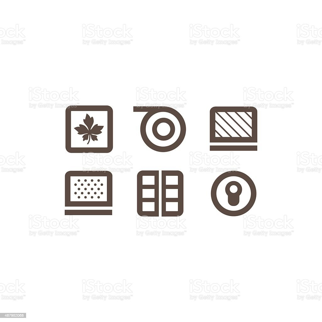 flat icons on the theme of building vector art illustration