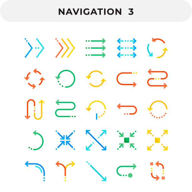 illustrazioni stock, clip art, cartoni animati e icone di tendenza di flat icons pack for ui. pixel perfect vector icon set for web design and website application. - pieno