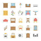 Flat Icons Pack of Furniture