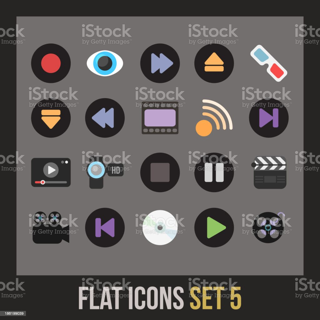 Flat icons set 5 royalty-free flat icons set 5 stock vector art & more images of animal body part
