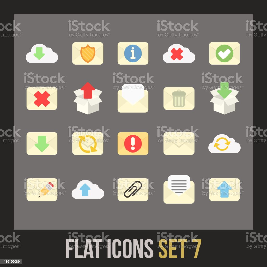 Flat icons set 7 royalty-free flat icons set 7 stock vector art & more images of alphabet